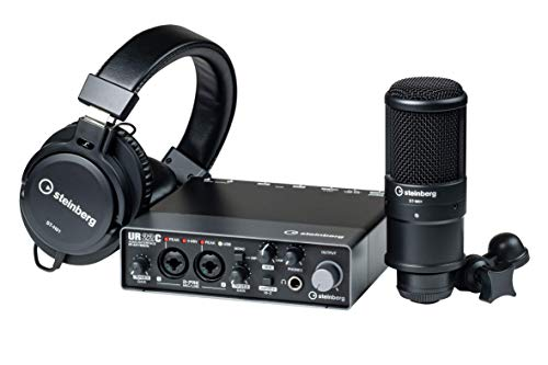 Steinberg UR22C Recording Pack - UR22C Interface with Headphones and Microphone