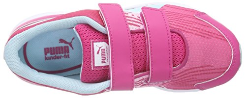 Puma Sequence V Kids, Unisex-Kinder Sneakers Pink (beetroot purple-clearwater 06)