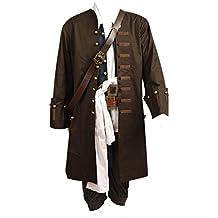 Daiendi - Disfraz de adulto con chaqueta, diseño de Jack Sparrow de Piratas del Caribe