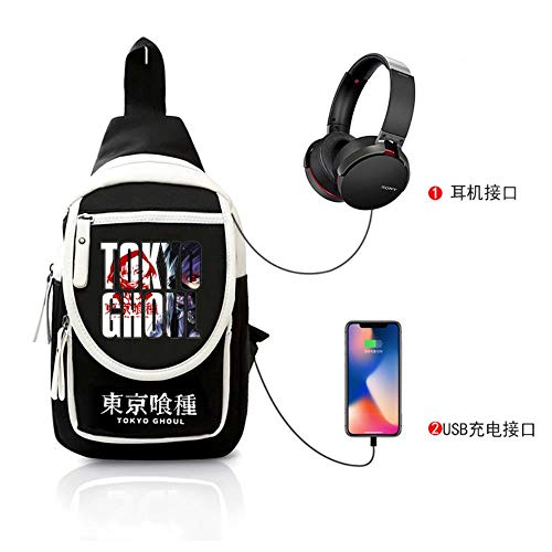 Pallima Cosplay Beiläufige Beutel Handtasche Rucksack Messenger Bag Umhängetasche Tokyo Ghoul Brusttasche Anime Männer und Frauen K -