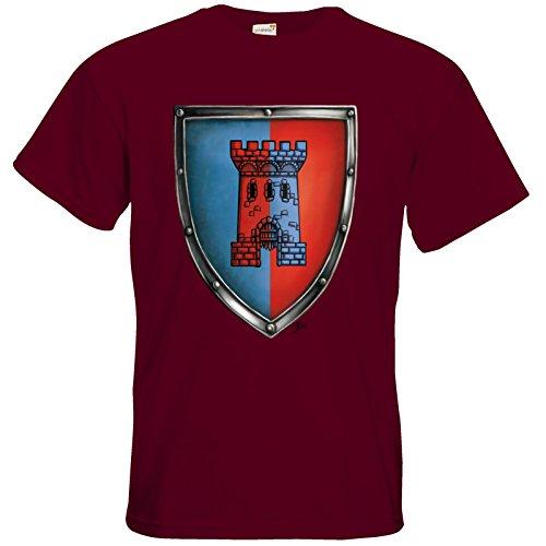 getshirts - Das Schwarze Auge - T-Shirt - Die Siebenwindküste - Wappen - Abilacht Burgundy