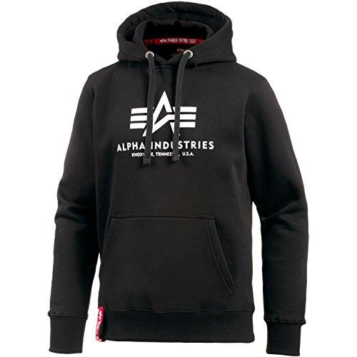 Alpha Industries Herren Hoodie schwarz L