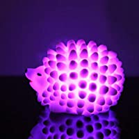 Night Light Hedgehog Small Night Light Can Be Color-Changing Christmas Gift Baby Headlight 6.6 X 5.6 X 4.6Cm