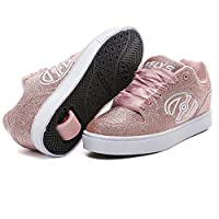 Heelys Motion Plus Trainers Shoes Pink Glitter (3 UK, Pink Glitter)