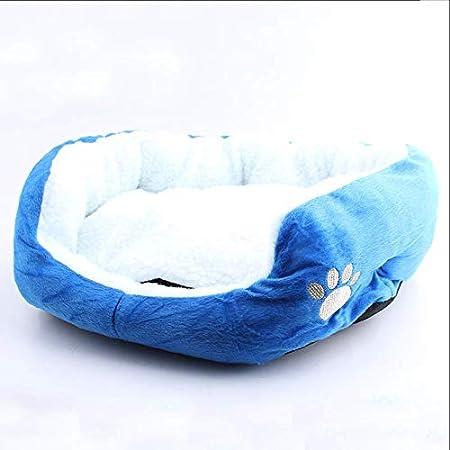 Qianle Hundebett Katzensofa Rund Leinwand Haustierbett Atmungsaktiv Abnehmbar