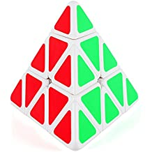 Maomaoyu 3X3 3X3X3 3D Pyraminx Pirámide Triángulo Cubo (blanco)
