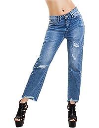 Toocool Jeans donna pantaloni zip cerniera posteriore apribile strappi  boyfriend M5979 7a630d250813