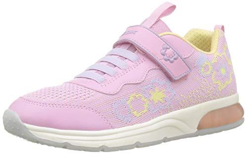 Geox J Spaceclub A, Scarpe da Ginnastica Basse Bambina, Rosa (Pink/Yellow C0786), 33 EU