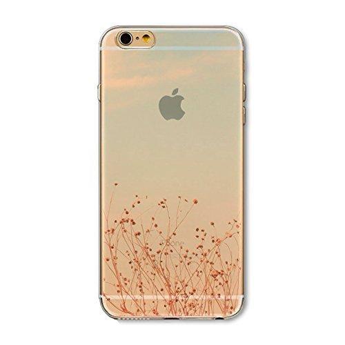 Coque iPhone 7 Housse étui-Case Transparent Liquid Crystal en TPU Silicone Clair,Protection Ultra Mince Premium,Coque Prime pour iPhone 7-Paysage-style 8 6