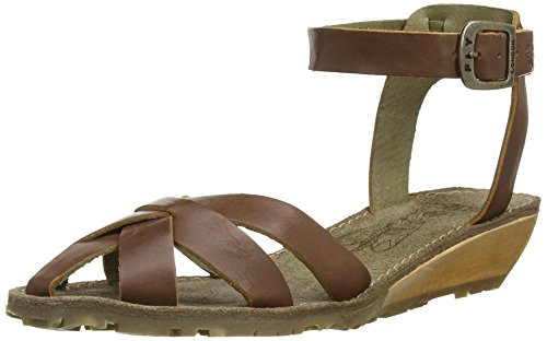 Fly tan Tono London Brown Sandalen Damen HPqHxWwrnf