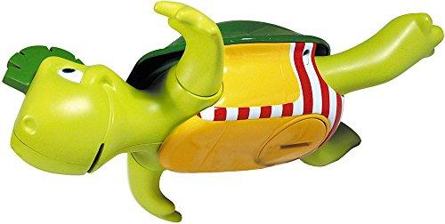Tomy Wasserspiel für Kinder Plantschi die singende Schildkröte mehrfarbig- hochwertiges Babyspielzeug mit Musik - vereint Badespielzeug und Musikspielzeug - ab 12 Monate