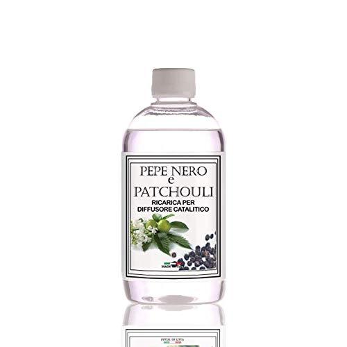Raumduft für katalytische Duftlampe, Nachfüllflasche 500 ml (Schwarzer Pfeffer und Patchouli)