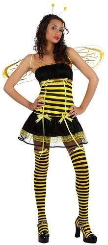 Damen Biene Kostüme Sexy (Atosa 10410 - Verkleidung Sexy Biene, Größe)