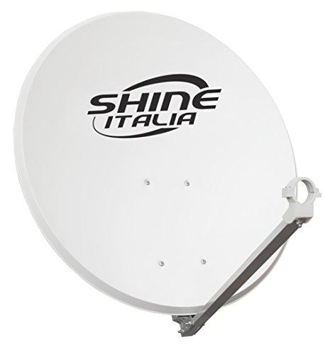Parabola Satellitare 80 | Supporto Disco in Ferro - Disco in Acciaio - Ideale per Zone Ventilate e per Ricevere i Canali Sky SD e Sky HD