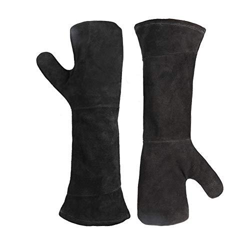 SHKY BBQ-Handschuhe - Zweischichtige, verschleißfeste Isolierung Outdoor-Grill Mikrowelle...