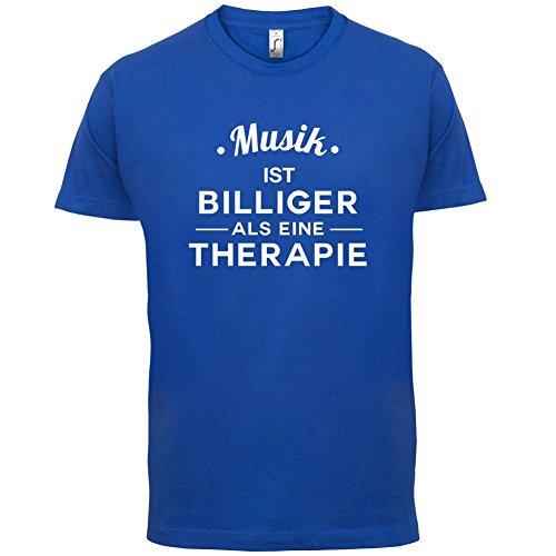 Musik ist billiger als eine Therapie - Herren T-Shirt - 13 Farben Royalblau