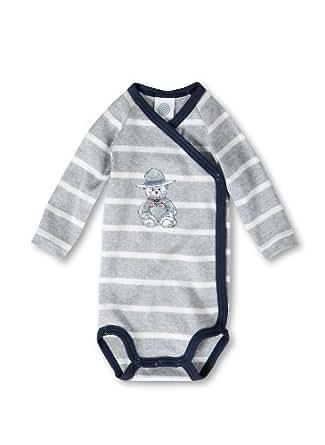 Sanetta Baby - Jungen Body, gestreift 321432, Gr. 56, Grau (1737)