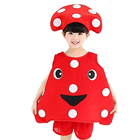 Byjia Children World Fruits And Veggies Collection Child Costume School Play Party Clothing Modeling Performance Kindergarten Environmental Fashion Show Dance Sets 11#