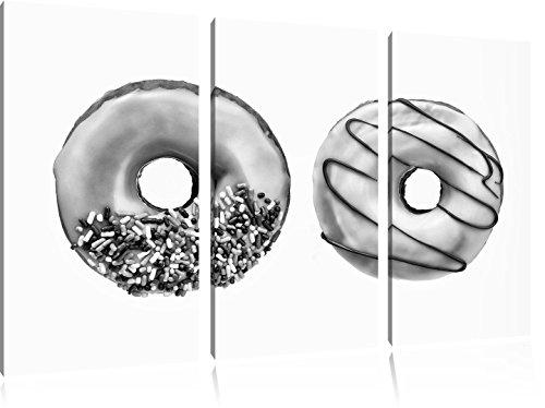 monocrome-beignes-glaces-3-pc-image-toile-120x80-image-sur-toile-xxl-enormes-photos-completement-enc