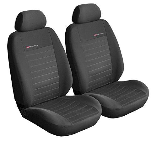 Sitzbezüge Auto Vordersitze Universal Autositzbezüge Schonbezüge Vorne Dunkelgrau-Grau mit Airbag System - Elegance P4