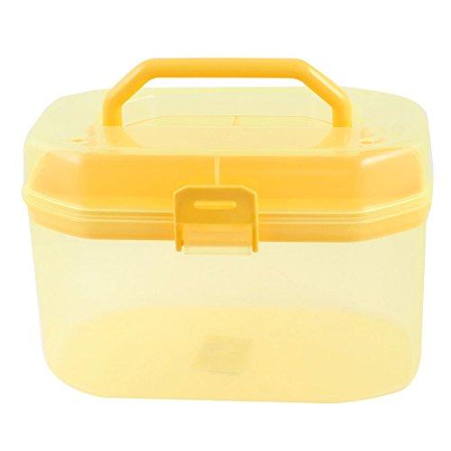 Plastische, kosmetische Komponenten Speicher Griff Box Löschen Yellow