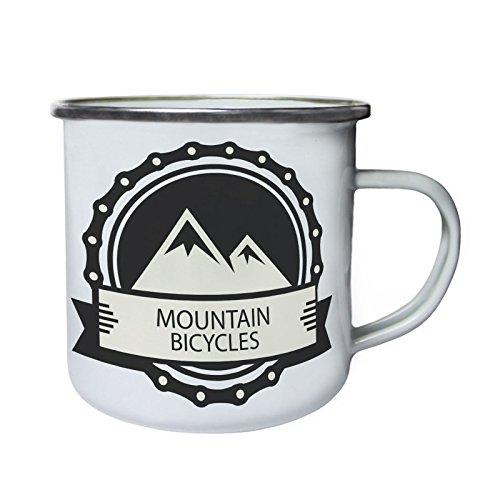 Mountainbike Fahrrad Retro, Zinn, Emaille 10oz/280ml Becher Tasse q285e