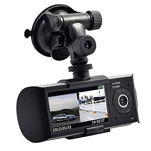 VR , gezichta Full HD Vorne und Hinten Dual-Kamera Auto DVR Dash Cam Recorder Camcorder mit 140Weitwinkel-Objektiv, G-Sensor und GPS-Funktion ()