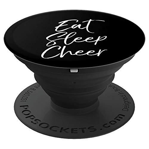 Cute Cheerleading Gift for Cheerleader Girls Eat Sleep Cheer - PopSockets Ausziehbarer Sockel und Griff für Smartphones und Tablets