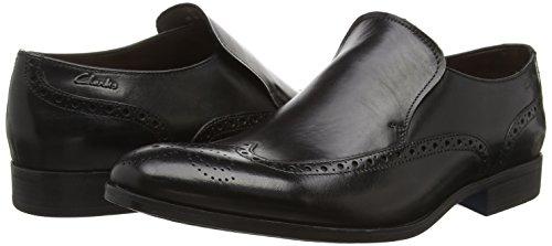 Clarks Banfield Slip, Chaussons Homme Noir (Black Leather)