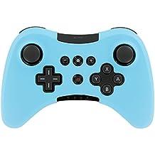 Suave silicona funda Skin Pouch Funda para Nintendo Wii U mando inalámbrico luz azul