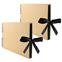 Lawei 2 Pack x 80 Pages Scrapbook Album Photo Album Memory Book - Great for DIY Craft Project, Father