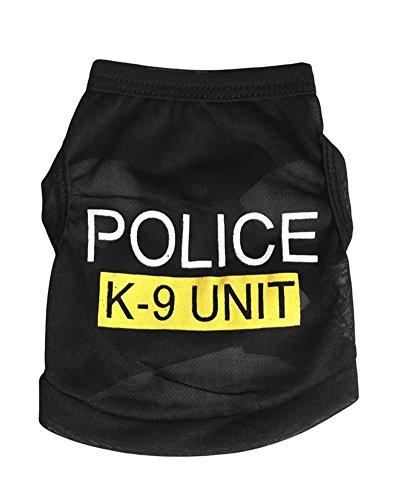 Polizei-weste Hund, (Gesunde Clubs Kleiner Hund Katze Weste Polizei Puppy T-Shirt Mantel Haustier Kleidung Sommer Bekleidung Kostüme)