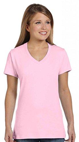 Hanes T-shirt nano-t à col en V pour homme Rose - Rose pâle