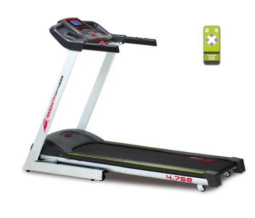 Smooth Fitness 4.75e Laufband Power Incline - 2 PS, 42x130cm Lauffläche, Elektronische Neigungswinkelverstellung 0-12%