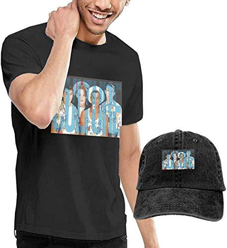 Men's Culture Club T-shirt and Washed Denim Baseball Cap