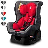 Lionelo Liam Plus Kindersitz Autositz Gruppe 0+ 1, 0-18 kg, 5-Punkt Sicherheitsgurte, nutzbar ab Geburt, ECE R44/04 (Rot)