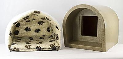Mr Snugs KatDen Sandstone Cat Kennel With Mattress & Liner