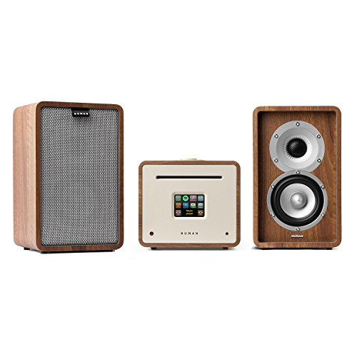 NUMAN Unison Retrospective 1979 S Edition mit Cover grau - Stereoanlage, Verstärker, Lautsprecher, 2 x 40 W, UNDOK-App, Spotify-Connect, WLAN, UKW, DAB+, Bluetooth, TFT-Display, walnuss