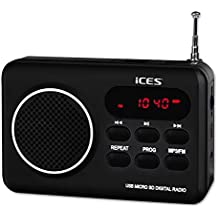 Lenco (ICES) IMPR-112 Color negro Rádio portátil con USB