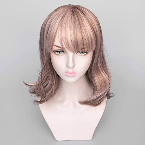 Perücke Weiblichen Langen Haaren Gemischten Farbverlauf Matte Hochtemperatur-Seide Synthetische Perücke (Size : 17 Inch) -