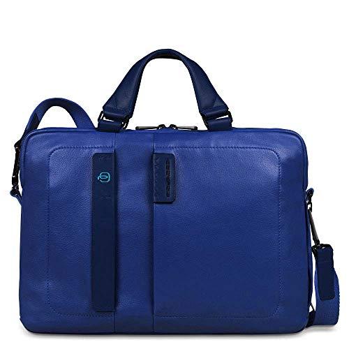 Piquadro Pulse Cartella, Pelle, Blu, 38 cm