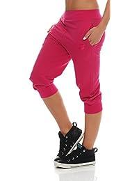 1eb306121ddd55 Gennadi Hoppe Damen 3/4 Trainingshose Sporthose Kurze Hose Sport Fitness  Jogginghose Shorts Barmuda