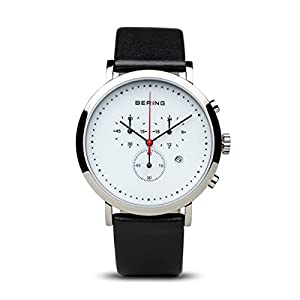 Bering Classic – Reloj cronógrafo de caballero de cuarzo con correa