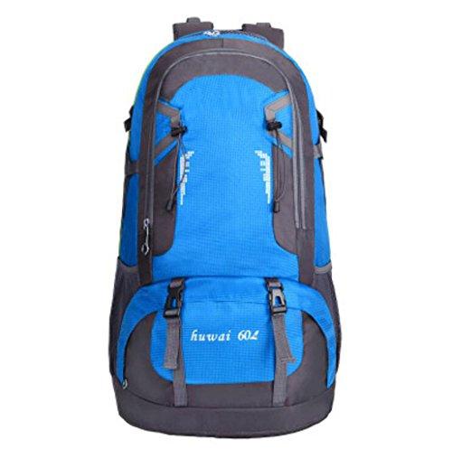 Zaini da uomo e da donna borsa da esterno da 60 litri di grande capacità borsa da alpinismo da viaggio impermeabile borsa da viaggio outdoor (colore : blue1)