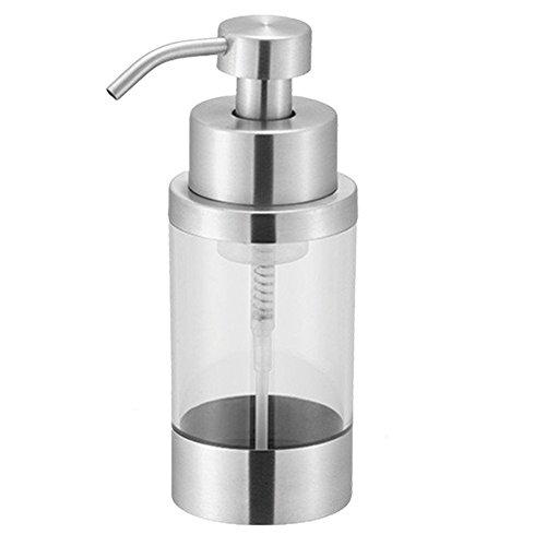 top-vra Schäumendes Seifenspender Edelstahl Lotion Spender Seife Pumpe für Küche und Bad, Satin Finish