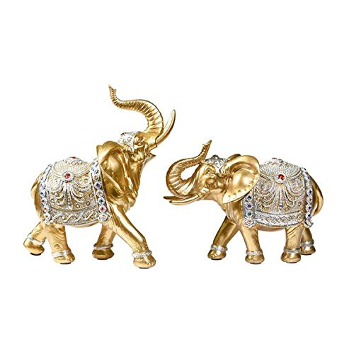 LLRDIAN Estatua de Elefante, Figura de Elefante, Personaje de Elefante, Escultura de Elefante decoración del hogar