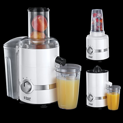 Russell Hobbs 22700 3-in-1 Ultimate Juicer, Press and Blender - White - Uk Appliances Direct