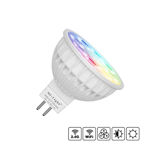 Bombilla LED WiFi MR16 Bulb 4W RGB+CCT + Blanco Cálido + Blanco Frío. Regulable