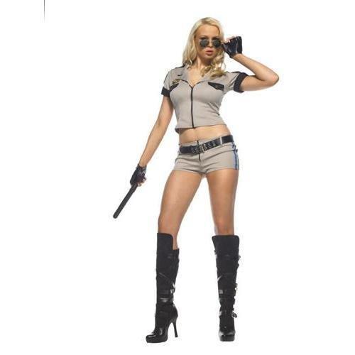 Leg Avenue - 6-teilig - Strip Sheriff Kostüm - ML - Beige - - Sheriff Kostüm Leg Avenue