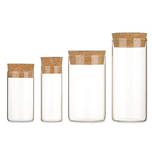 Dekorative Nüsse (10x Vorratsgläser mit Press-Korken   Hohe Qualität ✓ Extra starke Wandung ✓ Dekorativ und praktisch für Zuhause ✓ (90 x Ø50 mm))